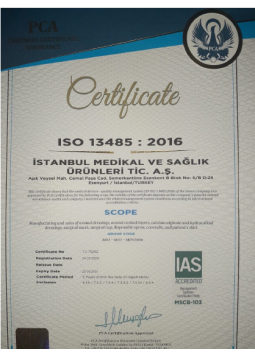 Parris ISO Quality Certificate